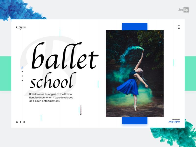 Ballet home jetup digital desktop company jetup dance school ballet homepage webdesign mobile app website ux ui design