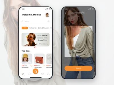 Aliexpress shopping online store yellow orange app ux ui mobile app jetup iphone ios fashion app e-commerce aliexpress alibaba ali