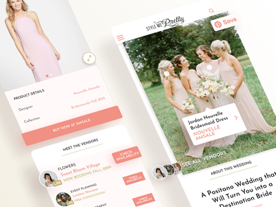 Image Based Product and Vendor Discovery photos booking shopping lifestyle brand weddings flat web ux ui