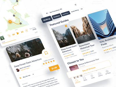 Audio Tours App activities lifestyle entertainment tourism mobile design mobile ui mobile app