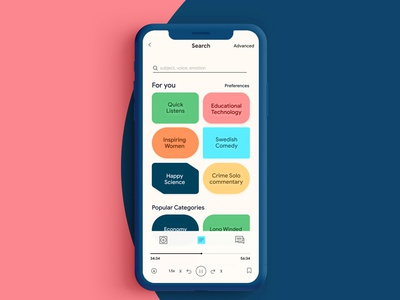 Frequency - The Future of Podcasting, An App Exploration visual design ux branding ui