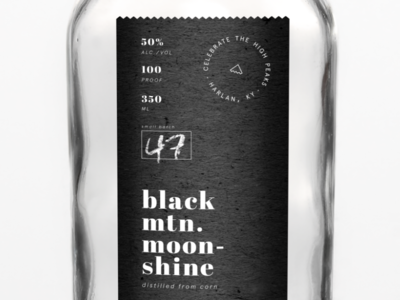 Celebrate the High Peaks mountain alcohol premium moonshine packaging