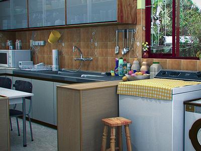 Kitchen blender 3d