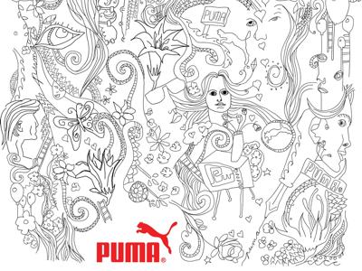 Puma Illustration #1 illustration puma
