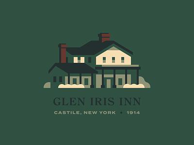 Glen Iris Inn park new york rochester letchworth restaurant hotel inn house illustration