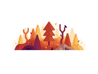 Fall november september october hills leaves fall autumn trees woods forest landscape