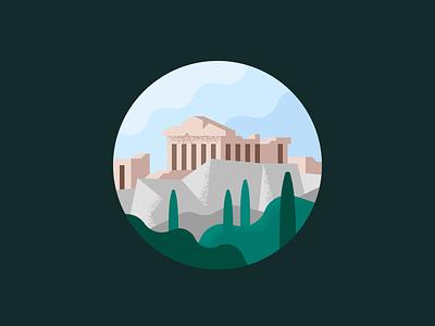 Acropolis building greek athens parthenon acropolis greece town city landscape
