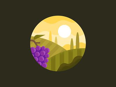 Vineyard hills sunset farm grapes italy tuscany wine vineyard forest landscape