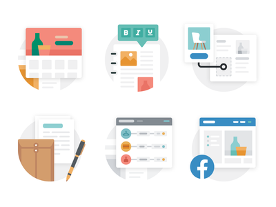 Shopify: Misc. Spot Illustrations ecommerce store buying selling marketplace shopping spot illustration branding graphic design