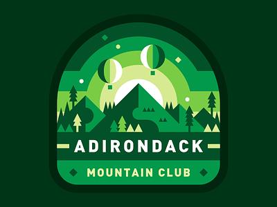 Adirondack Mountain Club mountains illustration badge adirondacks abstract