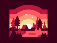 Camping at Sunrise