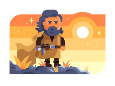 The Last Jedi luke skywalker illustration jedi star wars