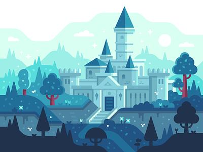 Hyrule Castle (OoT) landscape illustration hyrule castle castle ocarina of time zelda hyrule