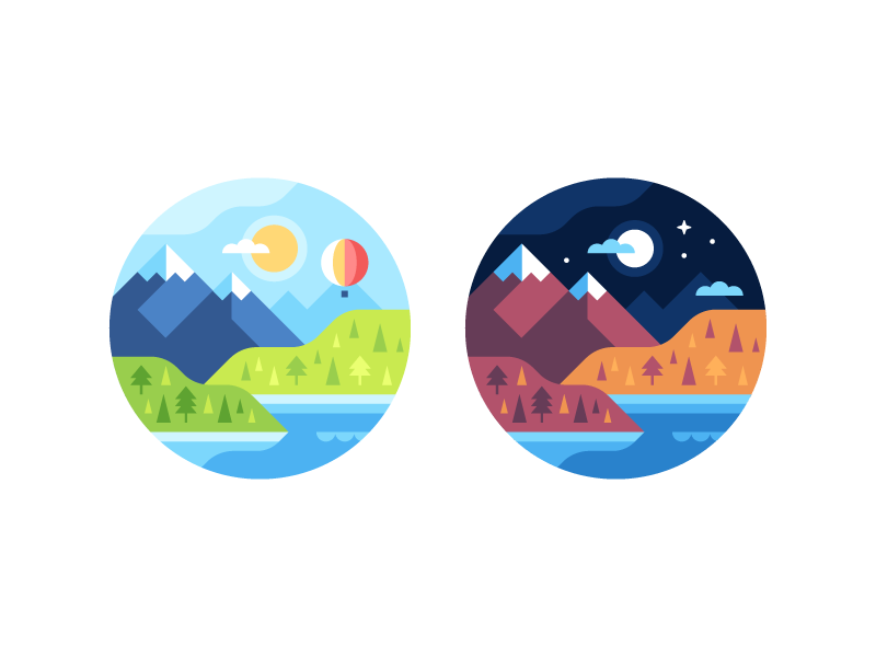 Mountain Watch Face Backgrounds by Alex Pasquarella
