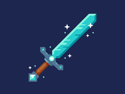 Diamond Sword illustration sword diamond sword minecraft