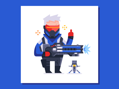 Get off my lawn soldier print illustration overwatch soldier 76