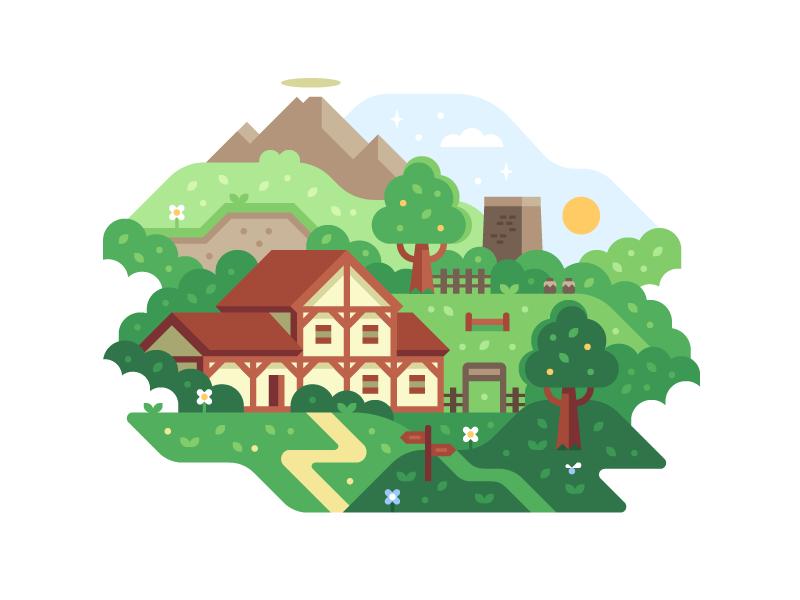 Game Worlds: The Ranch ranch lon lon ranch nintendo ocarina of time illustration zelda