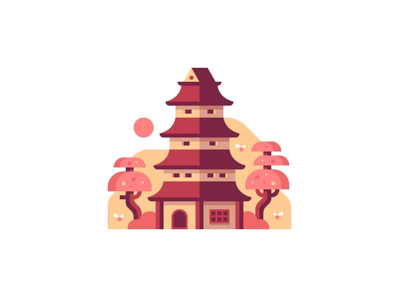 Pagoda dribbble alex pasquarella