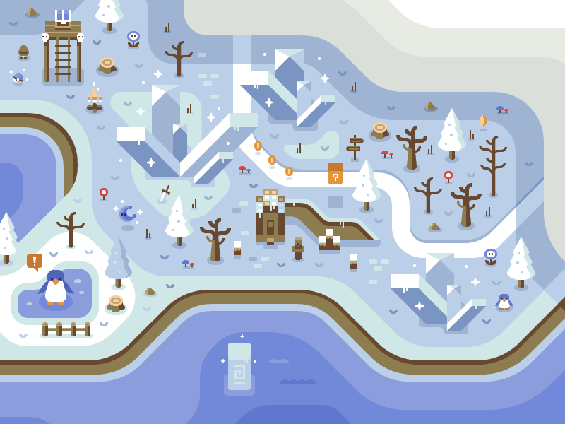 Arctic - Discord Overworld Mural