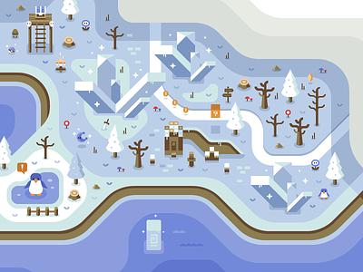 Arctic - Discord Overworld Mural zelda video game nintendo mario discord arctic snow winter