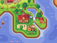 Animal Crossing - Discord Overworld Mural