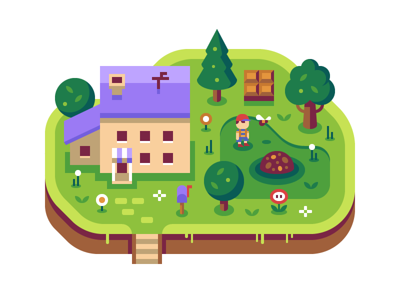 Earthbound - Discord Overworld Snippet ness house forest discord nintendo earthbound illustration