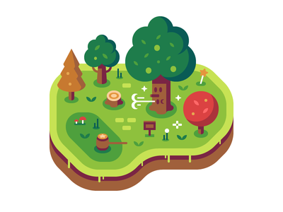 Whispy Woods - Discord Overworld Snippets king deedeedee whispy woods forest discord nintendo kirby illustration
