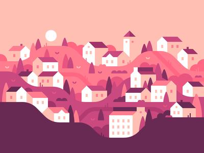 Hillside Town #2