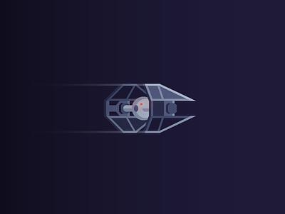 TIE Interceptor star wars tie interceptor tie fighter spaceship illustration may the fourth