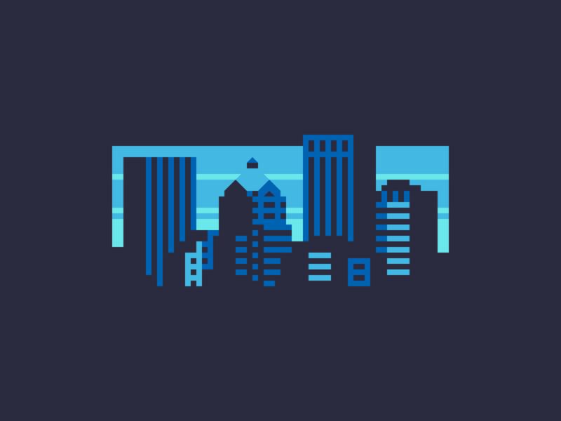 Rochester Skyline (T-Shirt) tshirt print city landscape illustration rochester