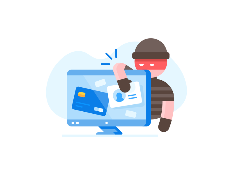 Credit Karma: Identity Monitoring breach identity credit thief ui design illustration