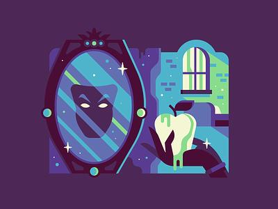 Snow White poison apple mirror folklore fairytale tale fairy white snow creepy