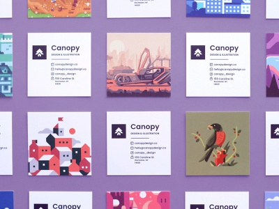 Canopy Promo/Business Cards branding business cards promotional cards promo