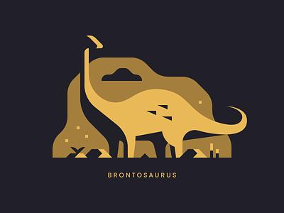 Brontosaurus abstract jurassic print landscape sauropod brontosaurus dinosaur