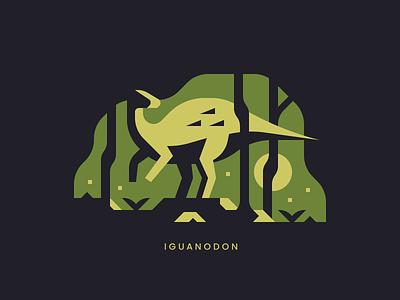 Iguanodon cretaceous jurassic landscape forest dino dinosaurs iguanodon dinosaur