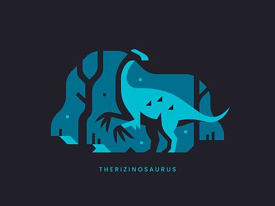Therizinosaurus theropod claw landscape forest trees cretaceous dino dinosaurs dinosaur therizinosaurus