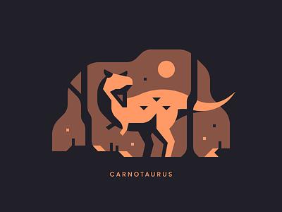 Carnotaurus jurassic cretaceous trex dinosaurs forest landscape dinosaur carnotaurus