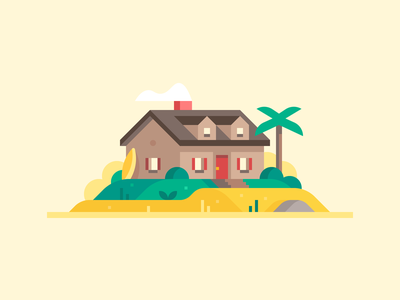 Credit Karma: Home Loans #1 lake house beach house beach cape cod mortgage loans mortgage house town forest landscape illustration