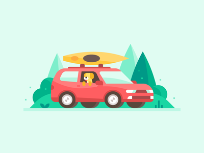 Credit Karma: Car Loans #1 kayak highway forest finance credit loan car loan roadtrip dog suv van car