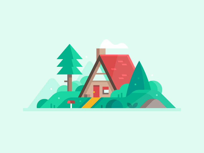 Credit Karma: New Home mountains woods log cabin cabin new home home house forest landscape