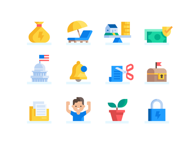 Credit Karma: Goals Icons (#2) mortgage loans icon set icons iconography icon finance credit card credit