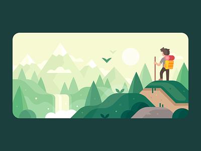 Credit Karma: Travel Rewards travel spring summer sunset waterfall forest hills climbing hiker hiking mountains landscape