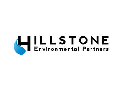 Hillstone Environmental Partners Logo black blue word mark corporate vector logo partners environmental hillstone
