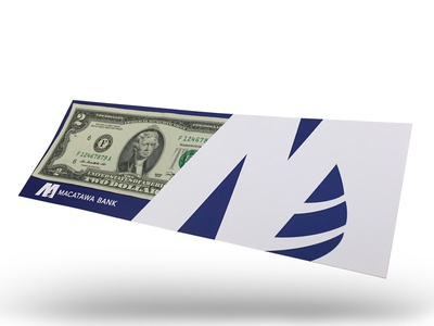 Macatawa Bank Event Giveaway Item print cardstock macatawa bank blue $2 event money paper vector dollar giveaway