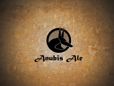 Anubis Ale Dribbble Post vector black golden dog microbrew ale anubis logo beer