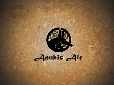 Anubis Ale Dribbble Post vector black golden dog microbrew ale anubis logo beer