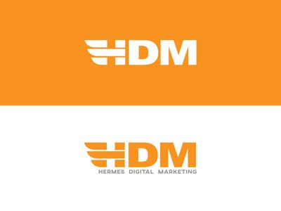 Hermes Digital Marketing short logo type logo orange vector type h logo icon hermes