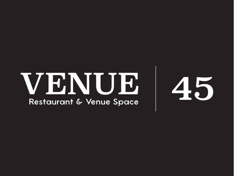 Venue 45 | Logo brand strategy brand midgard creative serif logo illustrator vector branding logo