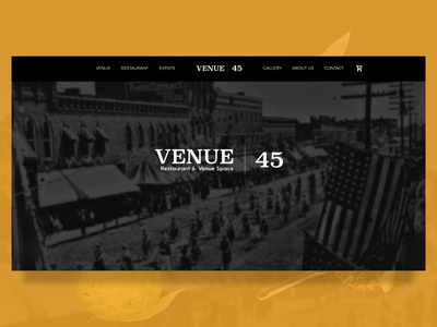 Venue 45 | Website midgard creative food and drink food venue user interaction website restaraunt food and beverage animation ux  ui wordpress web  design