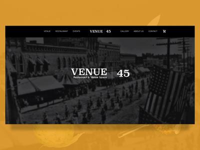 Venue 45 | Website midgard creative food and drink food venue user interaction website restaraunt food and beverage animation ux  ui wordpress web  design